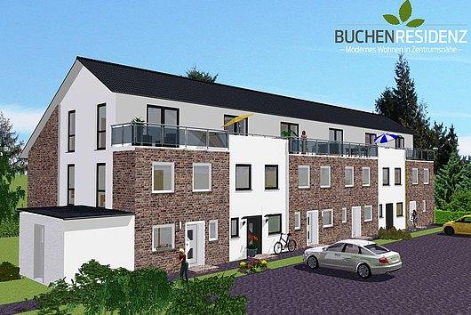 """Neubau-Reihenendhaus in der """"Buchenresidenz"""" in Kiel-Kronsburg"""
