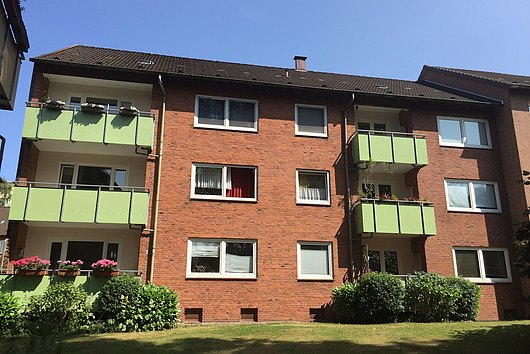 Solide, modernisierte 3-Zimmer-Eigentumswohnung in ruhiger Lage von Kiel-Wik