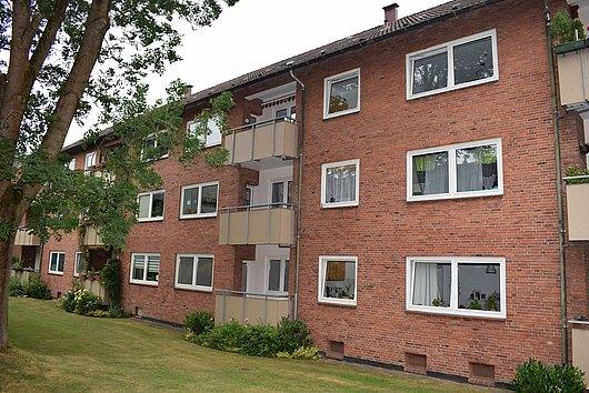 Gut geschnittene 3-Zimmer-Wohnung mit zwei Balkonen in ruhiger Lage von Kiel-Wik