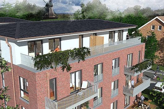 Seltene Gelegenheit - 3-Zimmer-Neubau-ETW mit Aufzug, Balkon und Stellplatz in Rammsee