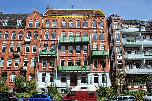 Auf Sicht gute Sicht - loftartige, derzeit vermietete Dachgeschoss-ETW in der Steinstraße